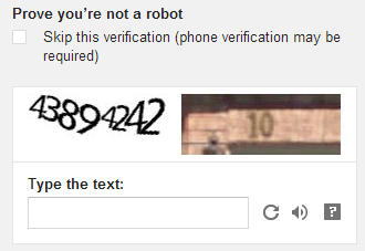 captcha verification form