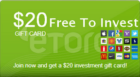 Get $20 free to start your investment portfolio – No Deposit Required! Get another $50 when you deposit $100USD or more.