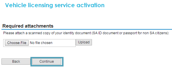 Upload a digital copy of your I.D. or Passport