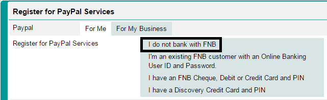 How to link PayPal to FNB (to withdraw money) | Kurt W